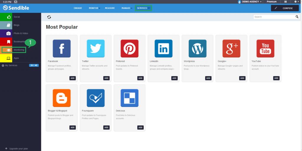 sendible social media management dashboard